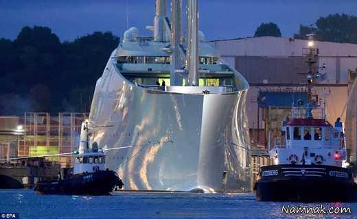 گرانترین کشتی کروز تفریحی جهان به آب انداخته شد
