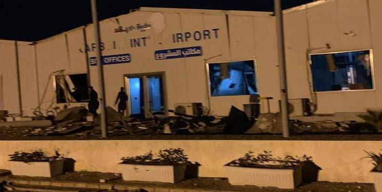 تصاویر حمله هوایی آمریکا به فرودگاه در دست احداث کربلا