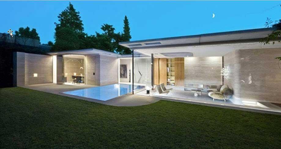 مصالح ساختمان ؛خانه ای مرکب از شیشه و بتون !