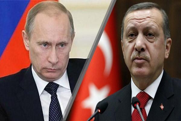 پوتین با اردوغان درباره سوریه مصاحبه کرد
