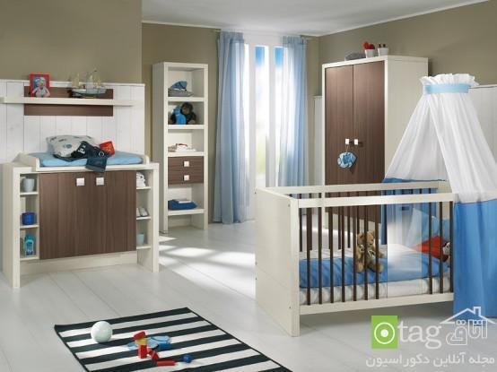دکوراسیون و چیدمان سرویس اتاق نوزاد با طراحی و تزیین زیبا