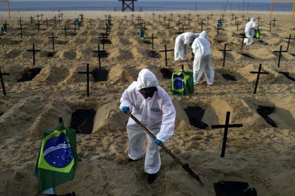 شمار قربانیان کرونا در برزیل از 100 هزار نفر فراتر رفت