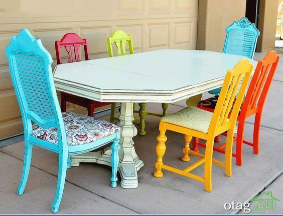 30 مدل جایگاه میز ناهارخوری چوبی جدید در رنگ های مختلف