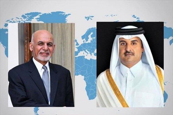 رئیس جمهور افغانستان با امیر قطر تلفنی مصاحبه کرد