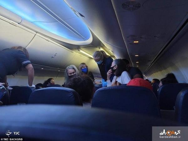 مرگ مسافر کرونایی در وسط پرواز!