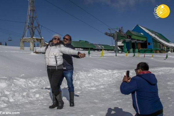 (تصاویر) لذت گردشگران در بهشتِ کشمیر