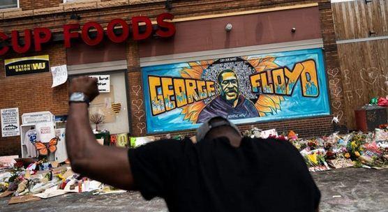 تیراندازی خونبار در محل قتل جورج فلوید خبرنگاران