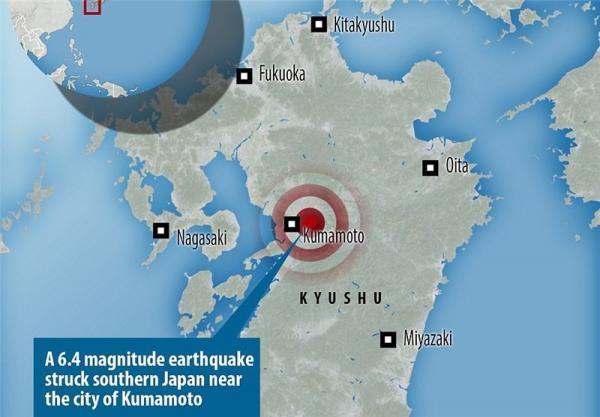 وقوع زلزله در جنوب غربی ژاپن