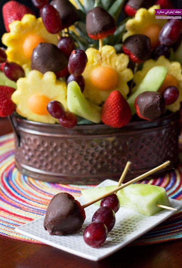 نمونه هایی از تزیین میوه و سالاد میوه