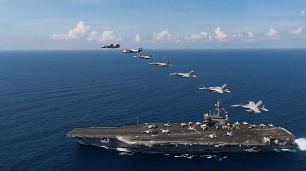 ورود یک ناو گروه هواپیمابر آمریکایی به دریای چین جنوبی
