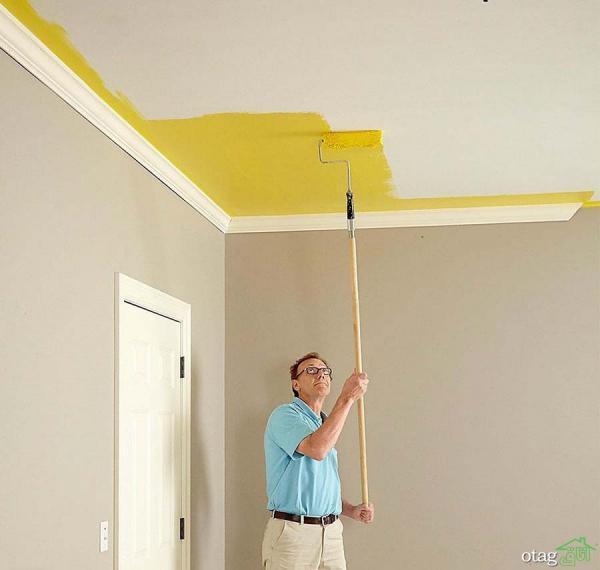 مراحل رنگ آمیزی سقف منزل [5 سبک نو]